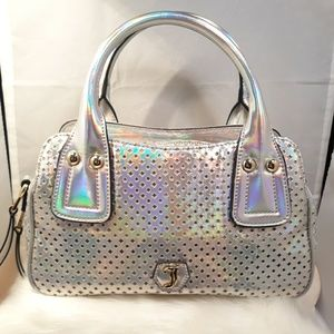 Juicy Couture Hologram Perforated Satchel